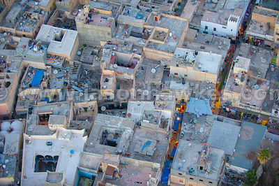 Close up of rooftops in Tripoli