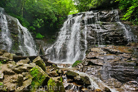 Gorgeous shot of Soco Falls.  Soco is one of those rare waterfalls where two separate streams drop to a falls adjacent to one another.  Soco Falls is an area sacred to the Cherokee.  Makes for a beautiful large print.