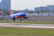 Plane Stock Photos: Southwest Airlines jet landing at Love Field in Dallas