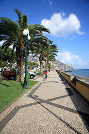 Embankment in Funchal, Madeira, Portugal