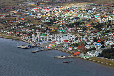 Aerial view of Stanley, East Falkland, Falkland Islands