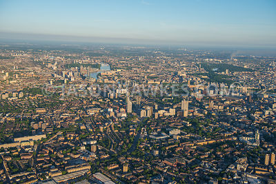 Aerial view of London, Bermondsey and Newington.