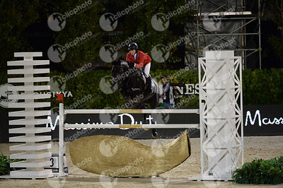 Elizabeth MADDEN ,(USA), CORTES C during Furusiyya FEI Nations Cup Jumping Final competition at CSIO5* Barcelona at Real Club de Polo, Barcelona - Spain