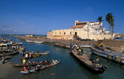 Castle of St George.  Old gold and slave trading centre.  Occuppied in 1482 by Portugal, in 1637 by the Netherlands and in 1872 by Britain. Elmina, Ghana