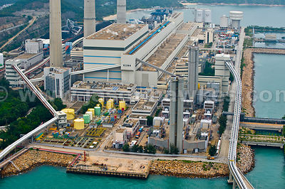 Aerial view of Power Station, Lamma Island, Hong Kong