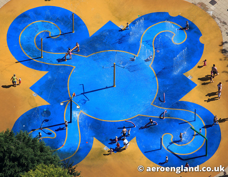 aerial photograph of Happy Mount Park   Morecambe Lancashire England UK