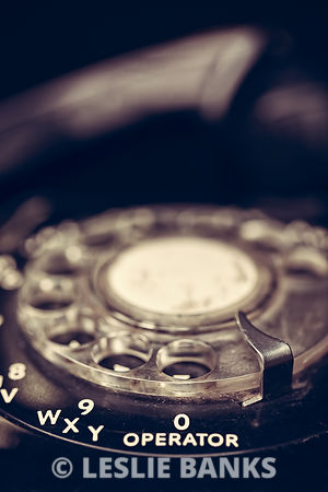 Vintage Telephone Close Up