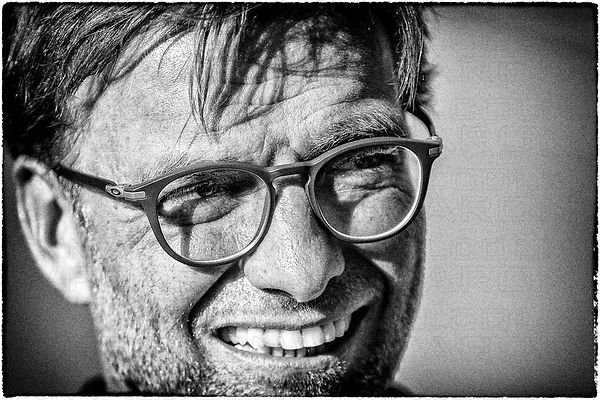 Jurgen klopp black and white portrait 2016