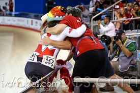 Women's Sprint Final. Track Day 4, Toronto 2015 Pan Am Games, Milton Pan Am/Parapan Am Velodrome, Milton, On; July 19, 2015