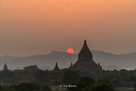 Ancient temples in Bagan, the Mandalay Region of Myanmar
