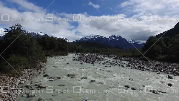 Glacier Fed River Patagonia South America
