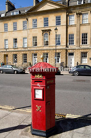 Victorian Post Box, Great Pulteney Street, Bath, Somerset, England.