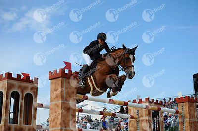 Pilar Lucrecia CORDON ,(ESP), NUAGE BLEU during Longines Cup of the City of Barcelona competition at CSIO5* Barcelona at Real Club de Polo, Barcelona - Spain
