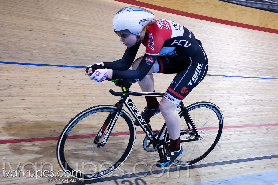 U17 Women Individual Pursuit Final. 2016/2017 Track O-Cup #3/Eastern Track Challenge, Mattamy National Cycling Centre, Milton, On, February 11, 2017