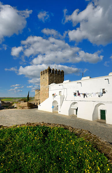 The 13th century castle and walled village of Campo Maior. Alentejo, Portugal
