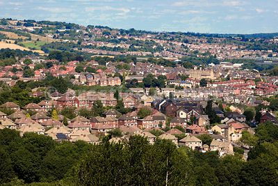 Houses on a Hillside in a typical British Town