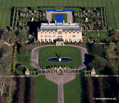aerial photograph of Eaton Hall Cheshire UK