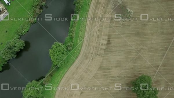 Cultivated Fields by the River Severn Shropshire United Kingdom