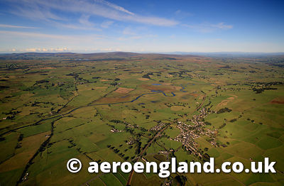 aerial photograph of Ribblesdale  Lancashire England