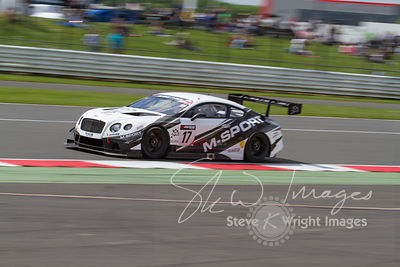 M-Sport Bentley Continental GT3 in action at the Silverstone 500 - the third round of the British GT Championship 2014 - 1st June 2014