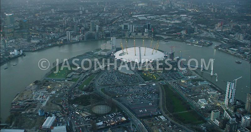 London Aerial Footage 02 Arena