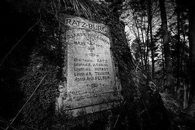WARTIME GERMAN PLAQUE ON REMOTE MOUNTAIN TOP BATTLEFIELD