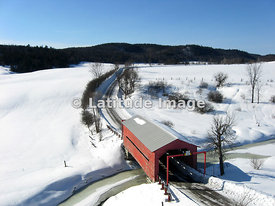 Red Covered Bridge on Chemin Cross Loop south of Wakefield, Québec