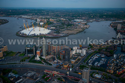 Aerial view of Poplar and Greenwich, London