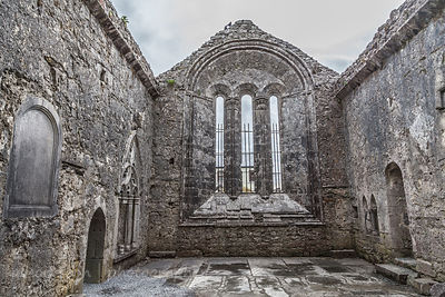 Cathedral, Kilfenora, historic village, The Burren, Ireland