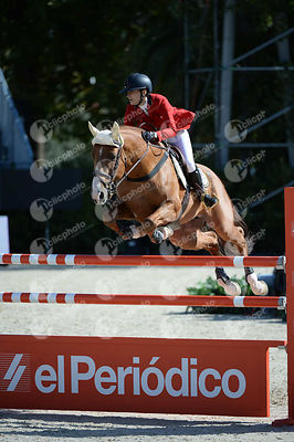 Paulina KOZA ,(POL), BANJO BOY during Coca-Cola Trofey competition at CSIO5* Barcelona at Real Club de Polo, Barcelona - Spain