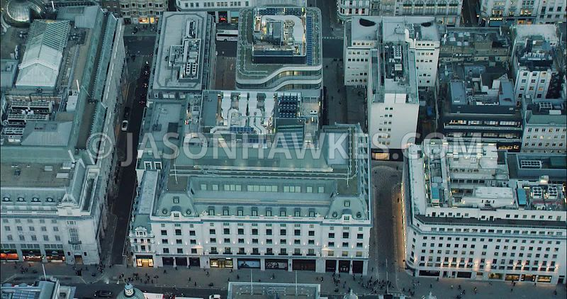 London Aerial Footage of St James's Market