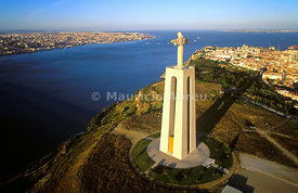 Cristo Rei (King Christ), 246 feet high, the most visited site in the region, overlooking the city of Lisbon, Portugal
