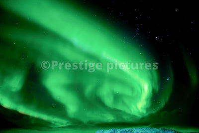 Aurora Borealis at Sea close to Honningsvåg in Norway's North Cape
