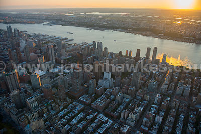 Aerial view of Upper West Side, Manhattan