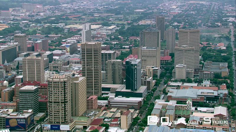 Aerial shot of Pretoria city centre. Pretoria Gauteng South Africa