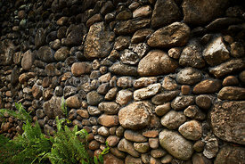 Rock and Concrete Wall.