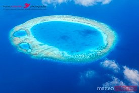 Aerial view of islands, Maldives, Indian Ocean