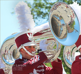 Reflection of Parade in Tuba