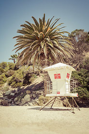 Lifeguard Tower Laguna Beach Retro Picture