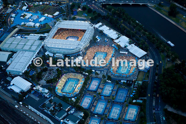 Let the Australian Open Tennis Tournament 2014 begin! aerial photos