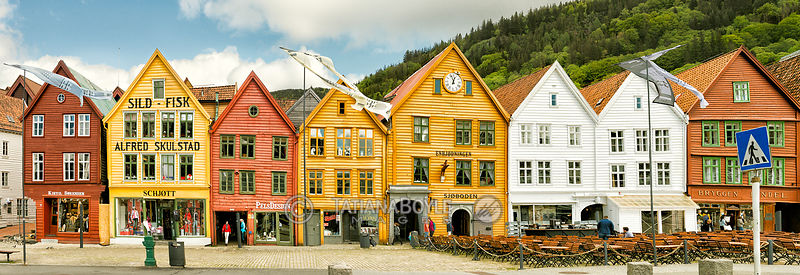 Historic buildings in Bergen