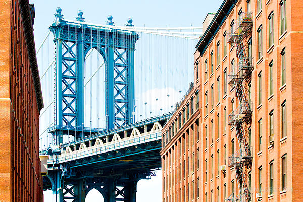 MANHATTAN BRIDGE DUMBO BROOKLYN NEW YORK COLOR