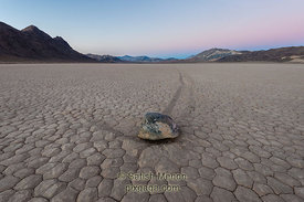 Moving Rock, Racetrack Playa, Death Valley National Park, California, USA