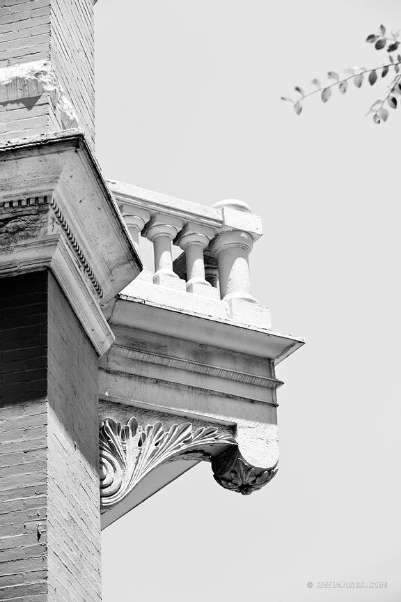 HISTORIC DOWNTOWN AUSTIN ARCHITECTURE BLACK AND WHITE