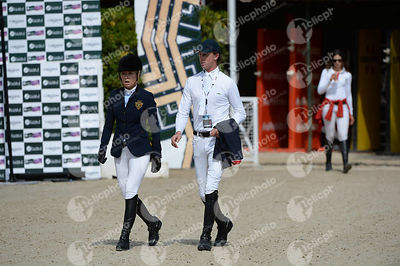 Ben MAHER ,(GBR), Edwina TOPS-ALEXANDER ,(AUS) during Longines Cup of the City of Barcelona competition at CSIO5* Barcelona at Real Club de Polo, Barcelona - Spain