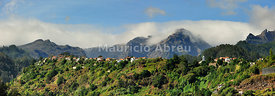 Terra Baptista and the high peaks of Madeira island. Portugal