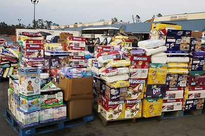 Convoy of Hope with baby supplies for Katrina victims