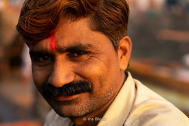 Portrait of a man at Sassoon dock, one of the largest fish markets in Mumbai, India