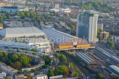 Aerial view of Earls Court, Royal Borough of Kensington and Chelsea, London