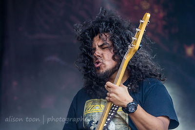 Tony Castaneda, bass, Kyng, Aftershock 2014